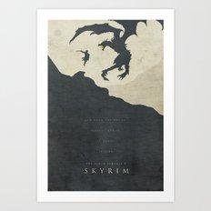 Dawning Fire - Skyrim Poster Art Print