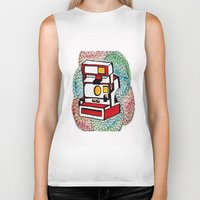 polaroid Biker Tanks featuring Polaroid by Jessica Scheffenacker
