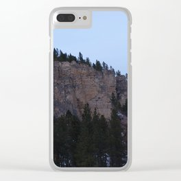 Canyon Wall Clear iPhone Case