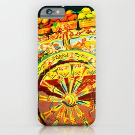 Sicily Italy Vintage Travel Ad iPhone Case