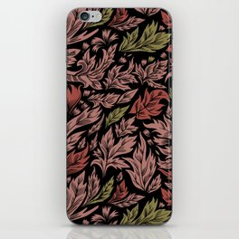Abstract flora pattern iPhone Skin