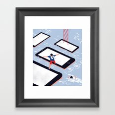 HERE WE ARE Framed Art Print