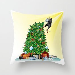 The Ornament Thief Throw Pillow