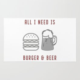 All I Need Is Burger & Beer - BBQ Barbecue Grill Rug