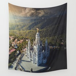 Temple of the Sacred Heart of Jesus Wall Tapestry