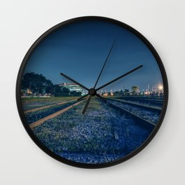 Train rail Wall Clock