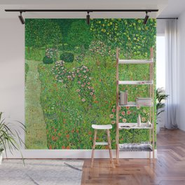 """Gustav Klimt """"Orchard With Roses"""" Wall Mural"""