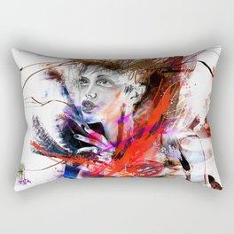 miss lara croft Rectangular Pillow