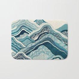 Blue Hike Bath Mat