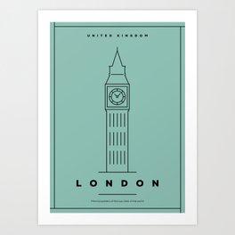 Minimal London City Poster Art Print