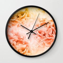 Yellow Orange Peonies Dream #1 #floral #decor #art #society6 Wall Clock