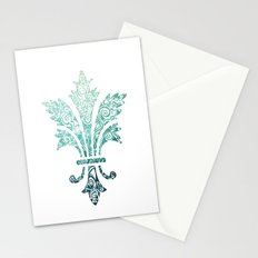 Fleur De Lis - French - Blue Stationery Cards
