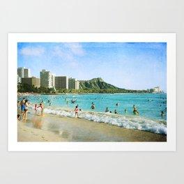 Diamond Head & Waikiki Art Print