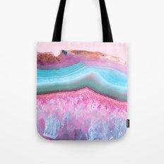 Rose Quartz and Serenity Agate Tote Bag