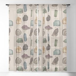Gems and Minerals Sheer Curtain