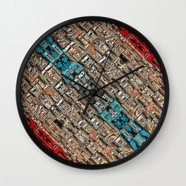 Macro Metallic Machine Wall Clock
