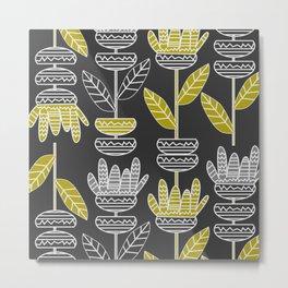 Abstract ornamental plants Metal Print