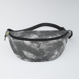 Black - White Abstract Texture Fanny Pack