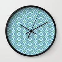 8 bit Wall Clocks featuring 8-bit by Cyan Rose
