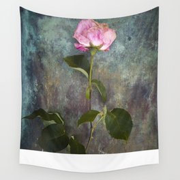 Single Wilted Rose Wall Tapestry