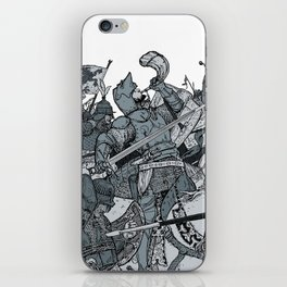 Saturday Knight Special STEEL BLUE / Vintage illustration redrawn and repurposed iPhone Skin