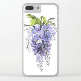 Wisteria Floribunda Clear iPhone Case