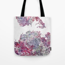 Auckland map Tote Bag