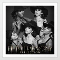 fifth harmony Art Prints featuring Fifth Harmony - Reflection by xamjx3