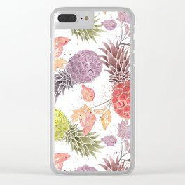 Juicy pineapple. Clear iPhone Case