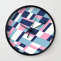 matisse Wall Clocks featuring Matisse Map Pink by Project M