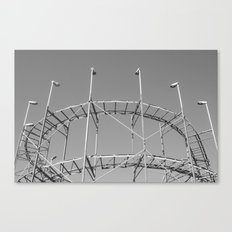 Vintage Rollercoaster Montevideo Canvas Print