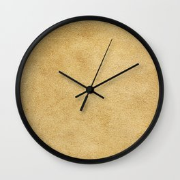 Beige suede leather texture. Luxury leather. Fashion texture. Lovely skin background. Wall Clock