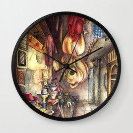 Khan-E-Khalili Bazaar in Egypt by Nadia J Art Wall Clock