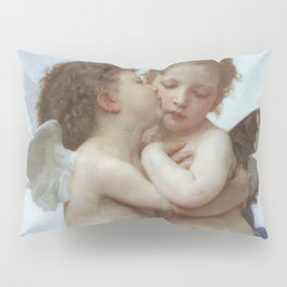 CUPID AND PSYCHE AS CHILDREN - WILLIAM ADOLPHE BOUGUEREAU  Pillow Sham