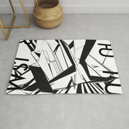 History of Art in Black and White. Futurism Rug