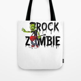 Zombie Guitar Undead Halloween Music for Rock Fans Light Tote Bag