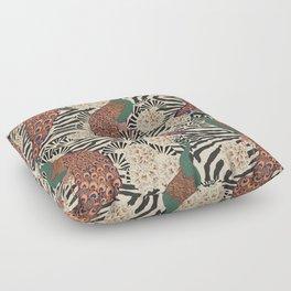 ENCHANTED PEACOCK BRIGHT Floor Pillow