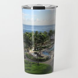 Atlantic Ocean view from Caribe Hilton, San Juan, Puerto Rico Travel Mug