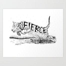 Fierce Art Print