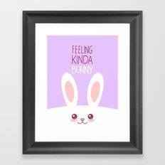 Feeling Bunny Framed Art Print