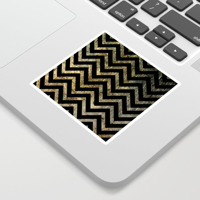 Brass Chevrons Sticker
