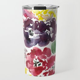Vivid Asian Blooms Travel Mug