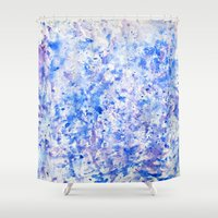 splatter Shower Curtains featuring splatter by From Roxy
