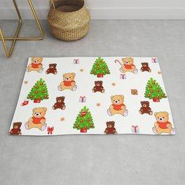 Christmas teddy bears decoration Rug