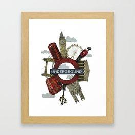 Around London digital illustration Framed Art Print