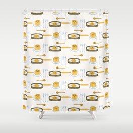 Cute vector pancake day breakfast illustration Shower Curtain