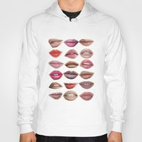 lips Hoodies featuring Lips by Emily Kenney