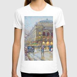 Theater du Chatelet, Paris, France by Eugene Galian Laloue T-shirt