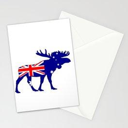 Australian Flag - Moose Stationery Cards