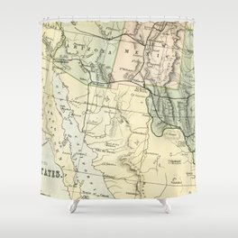 Vintage Map of the South West Of The United States Shower Curtain